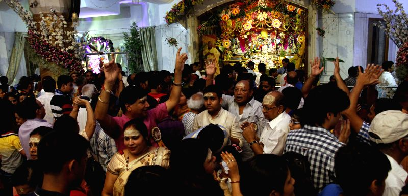 Devotees throng ISKCON Temple on Janmashtami at ISKCON Temple in New Delhi on Aug 18, 2014.