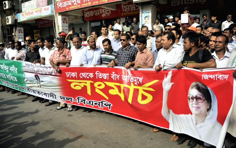 Activists of Bangladesh Nationalist party (BNP) attend a rally before starting a long march in Dhaka, Bangladesh, April 22, 2014. Bangladesh Nationalist Party ...