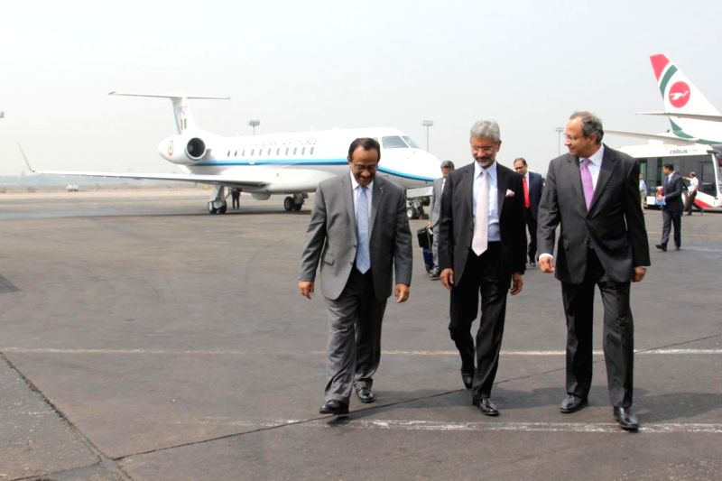 Indian Foreign Secretary S. Jaishankar arrives in Dhaka, Bangladesh on March 2, 2015.