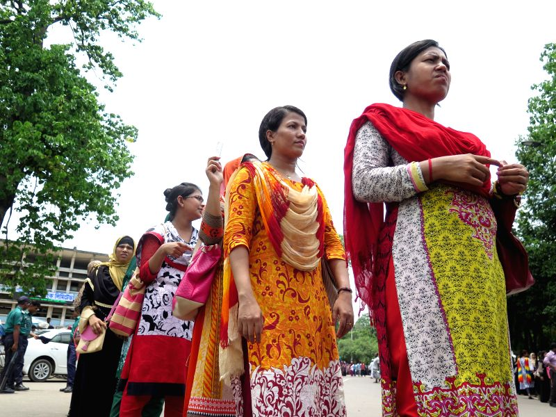 DHAKA, May 25, 2016 - Bangladeshi unemployed nurses attend a protest rally demanding their employment on the basis of seniority in Dhaka, Bangladesh, May 25, 2016. Hundreds of unemployed nurses took ...