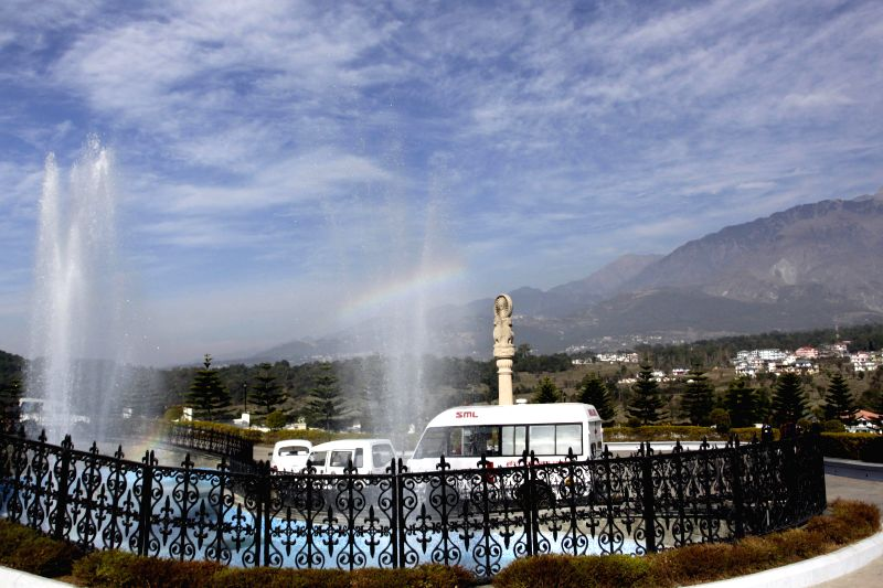 A view of Dhauladhar range as seen from the Vidhan Sabha complex in Tapovan, Dharamsala on Dec 11, 2014.