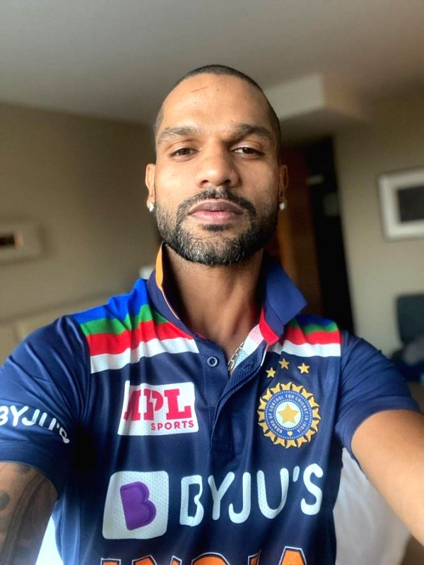 Dhawan shares image of Team India's new limited-overs jersey.