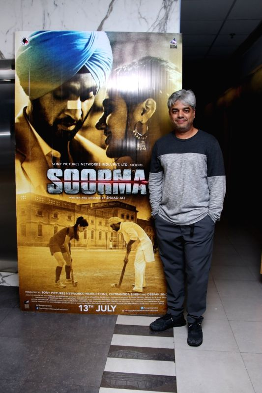 "Diector Shaad Ali at the special screening of upcoming film ""Soorma"" in Mumbai on July 11, 2018."