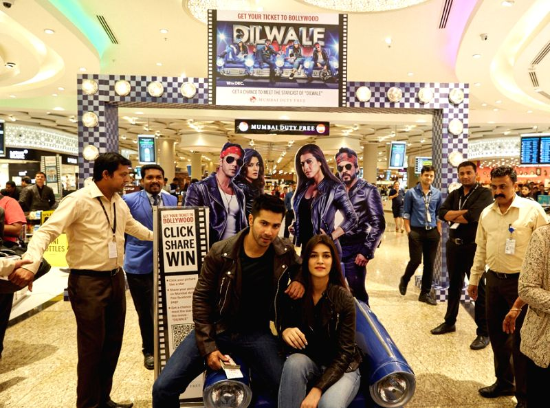 Dilwale Team at Mumbai Duty Free