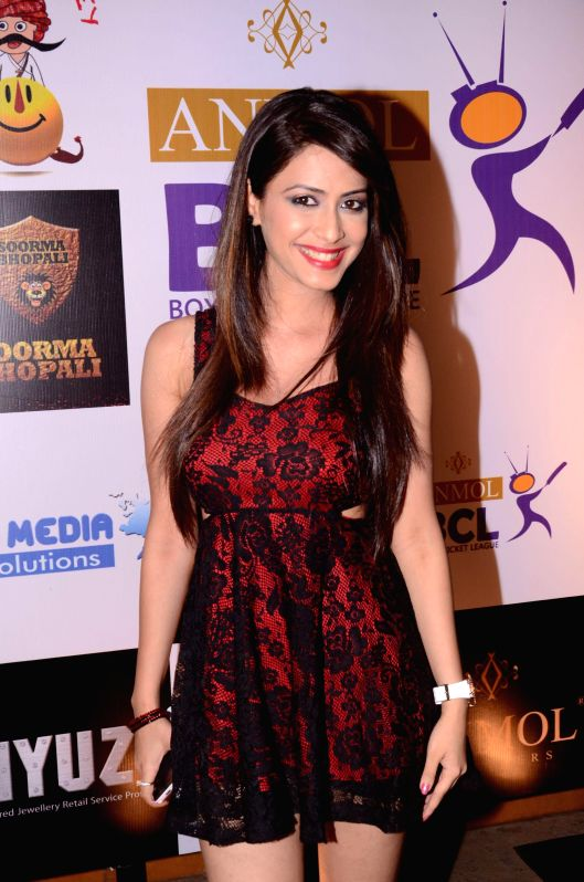 Dimple during the success party Box cricket league (BCL) in Mumbai, in Mumbai on May 8, 2014.