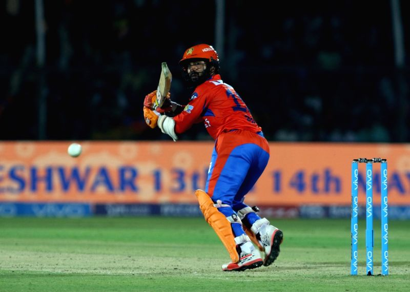 Dinesh Karthik of Gujarat Lions in action during an IPL 2017 match between Gujarat Lions and Delhi Daredevils at Green Park in Kanpur on May 10, 2017.