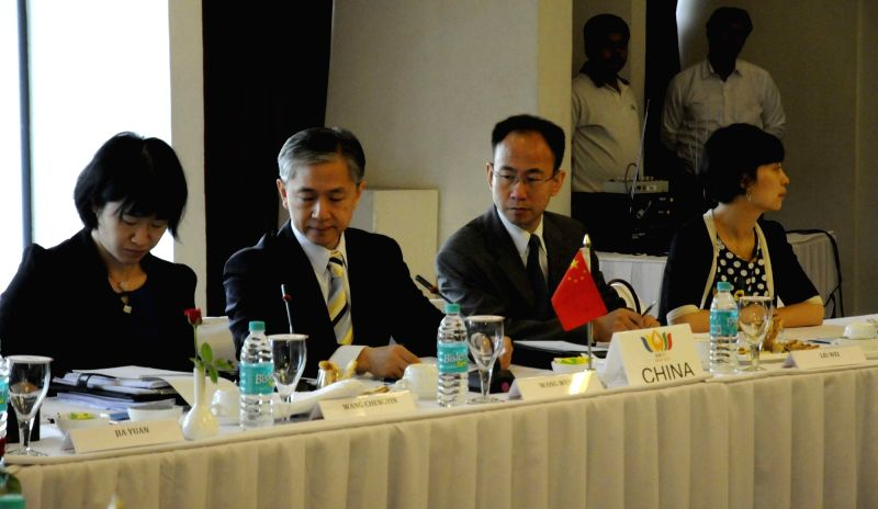 Diplomats from Brazil, Russia, India, China and South Africa during the 'BRICS Policy Planning Dialogue' in Patna on July 26, 2016.