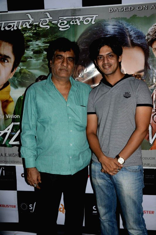 Director Ajay Mehra and Jeet Goshwami during a press meet of film Bazaar-E-Husn based on Munshi Premchandji's Urdu novel in Mumbai on July 11, 2014.