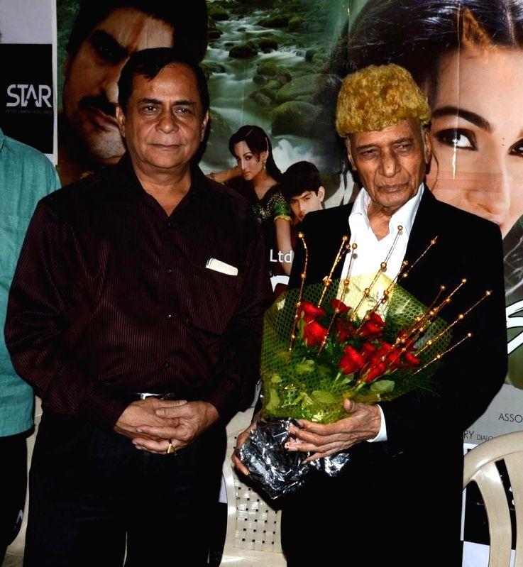 Director Ajay Mehra & Music director Khayyam Sahab during a press meet of film Bazaar-E-Husn based on Munshi Premchandji's Urdu novel in Mumbai on July 11, 2014.