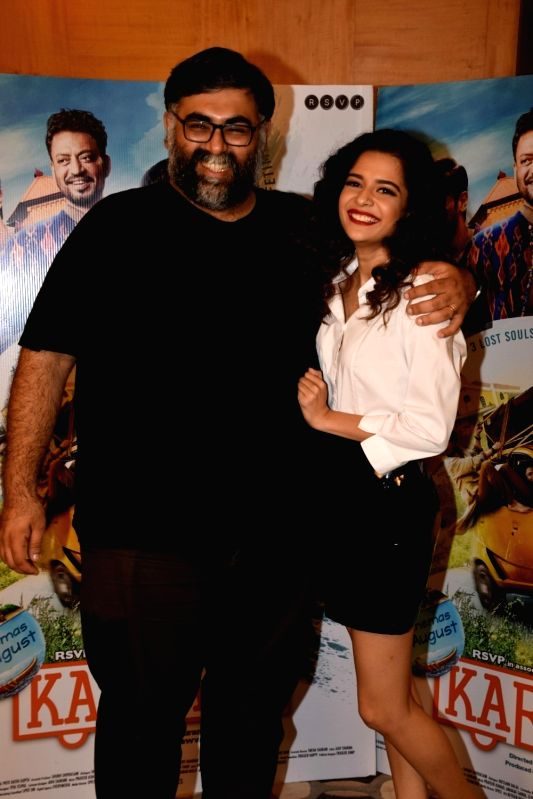 "Director Akarsh Khurana and actress Mithila Palkar during a media interaction of their upcoming film ""Karwaan"" in Mumbai on July 23, 2018. - Mithila Palkar"