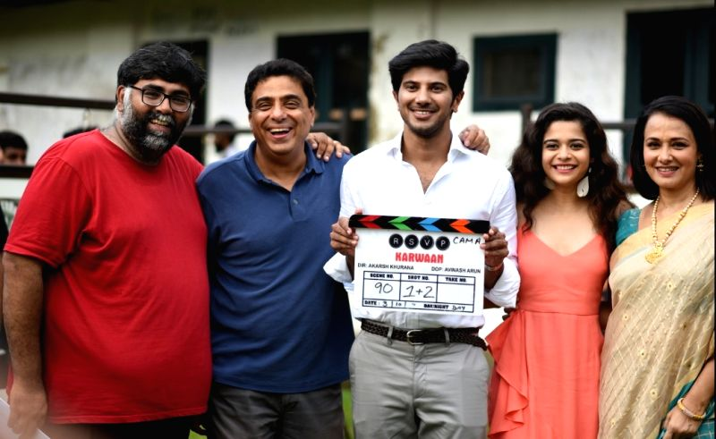 Director Akarsh Khurana with Karwaan team.
