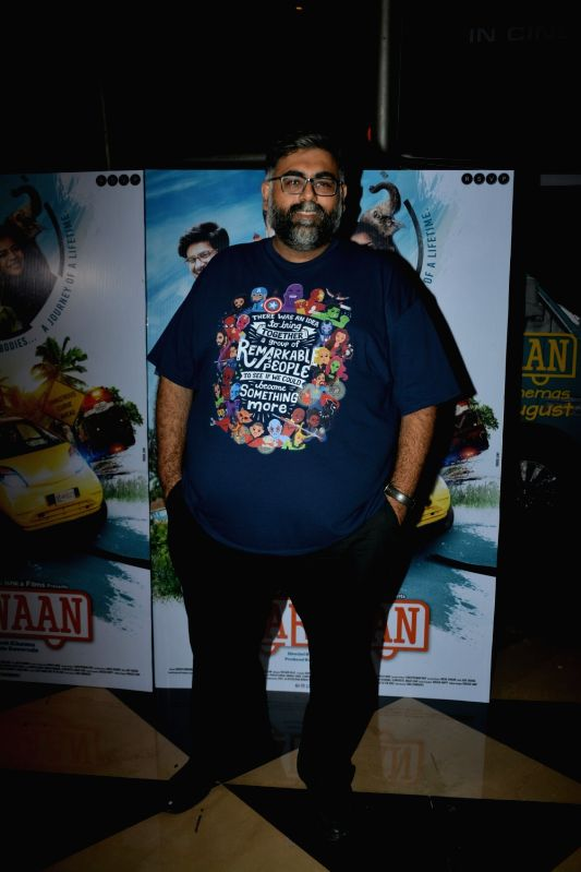 "Director and actor Akarsh Khurana at the special screening of his upcoming film ""Karwaan"", in Mumbai on Aug 2, 2018. - Akarsh Khurana"