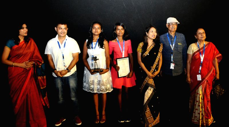 Director and Producer Rima Das and the Cast and Crew of the film 'Village Rockstars' felicitate during the 48th International Film Festival of India (IFFI-2017), in Panaji, Goa on Nov 21, ...
