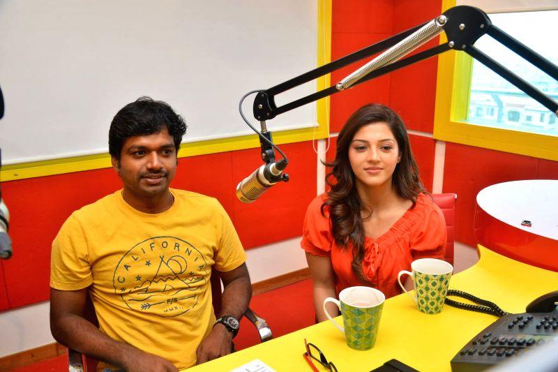 "Promotion of film ""Raja the Great"" - Anil Ravipudi and Mehrene Kaur Pirzada - Mehrene Kaur Pirzada"