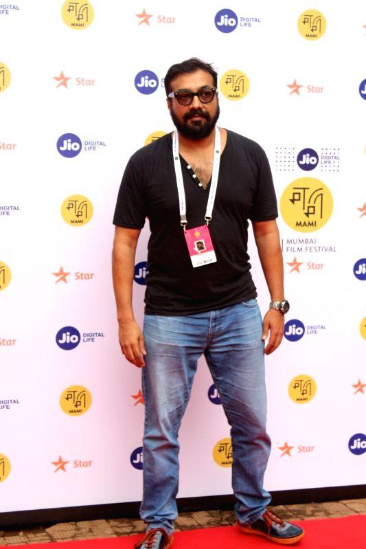 "Director Anurag Kashyap at ""Jio Mami Film Mela"" in Mumbai on Oct 7, 2017. - Anurag Kashyap"