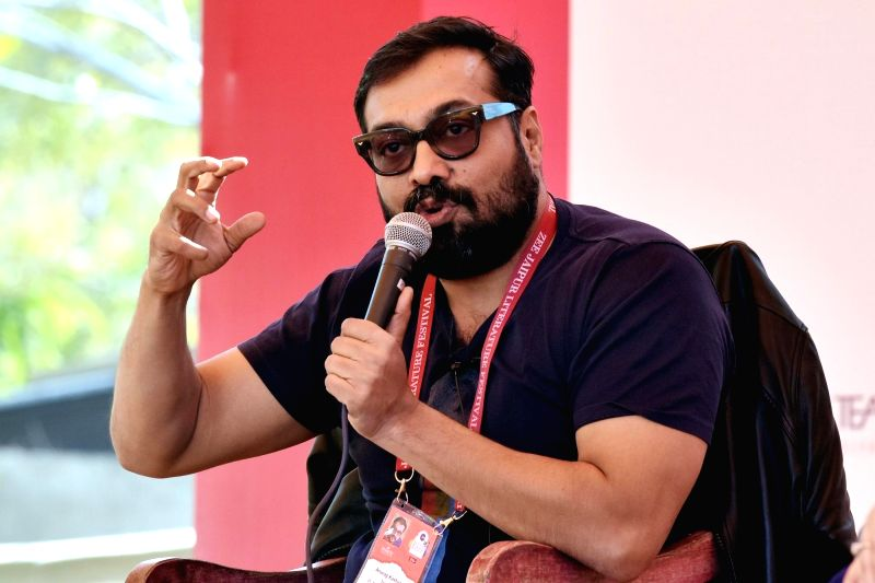 Director Anurag Kashyap during Jaipur Literature Festival at Diggi Palace, on Jan 26, 2018.
