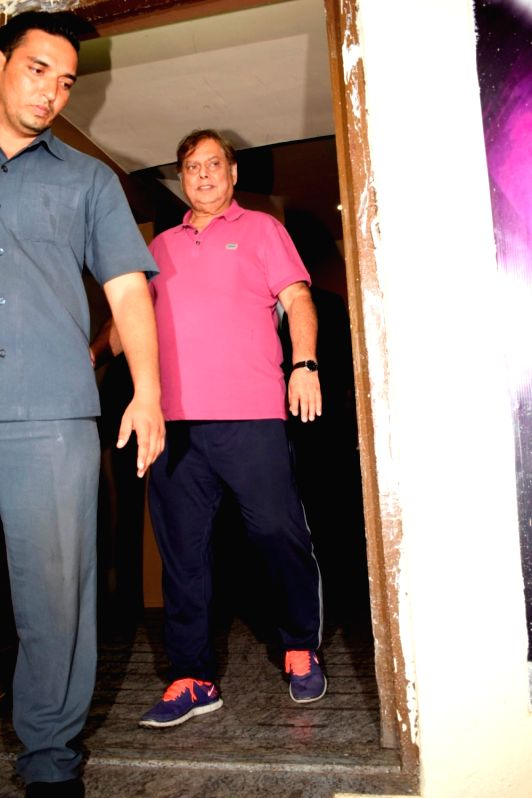 "Director David Dhawan at the special screening of upcoming film ""Race 3"" in Mumbai on June 12, 2018."