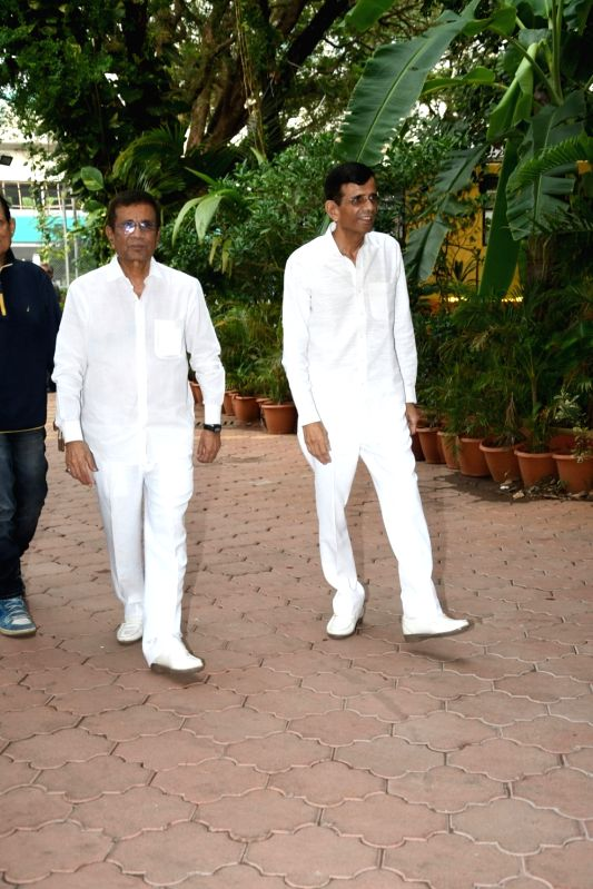 Director-duo, Abbas-Mustan at a prayer meet organised for director Anil Sharma's mother in Mumbai on June 8, 2018. - Anil Sharm and Sharma