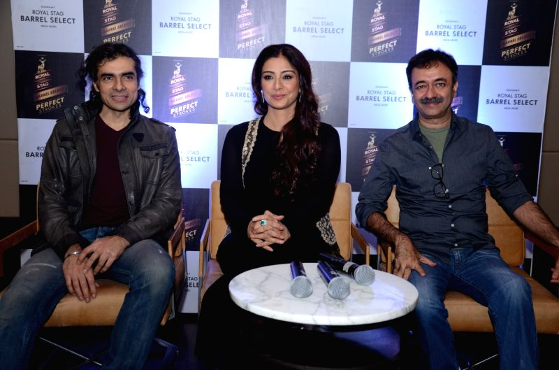 Director Imtiaz Ali, Actress Tabu and Director Raju Hirani during a programme ``Perfect Strokes Season 2`` in New Delhi on Dec. 5, 2015.