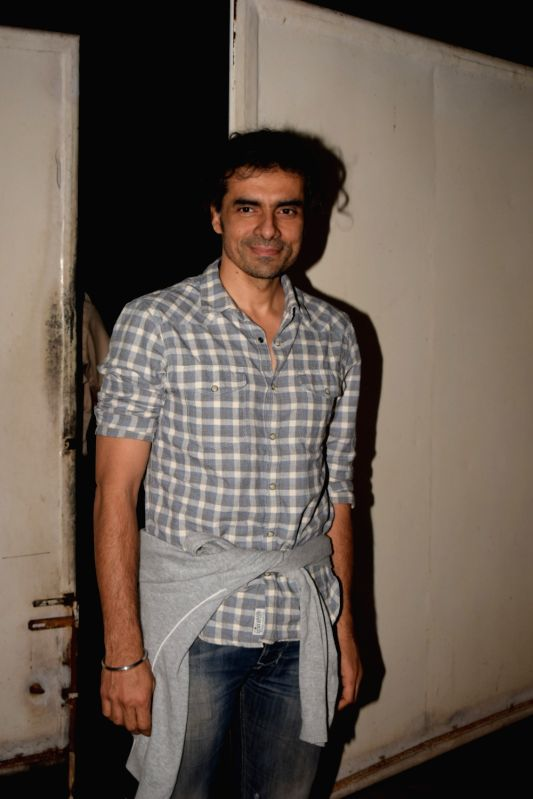 "Director Imtiaz Ali at the screening of web series ""The Test Case"" in Mumbai on Jan 29, 2018."