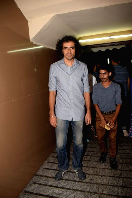 """Director Imtiaz Ali at the special screening of film """"October"""" in Mumbai on April 12, 2018."""