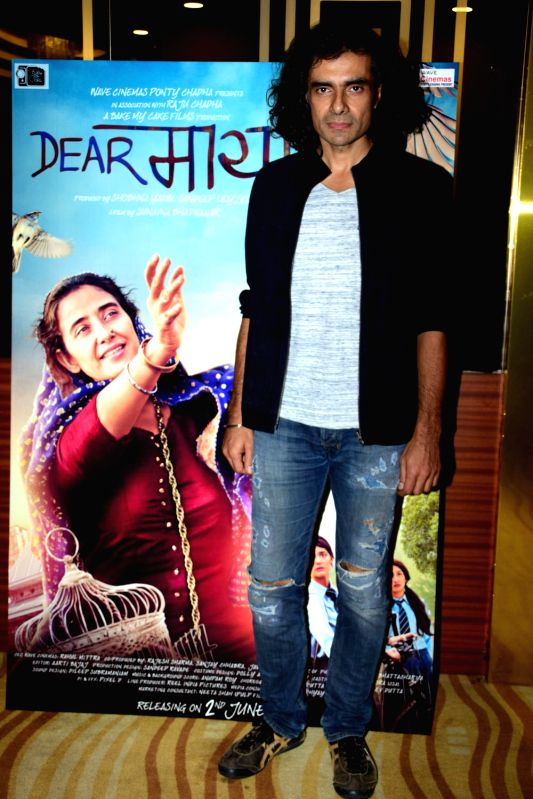"Director Imtiaz Ali during the trailer launch of film ""Dear Maya"" in Mumbai on May 4, 2017."