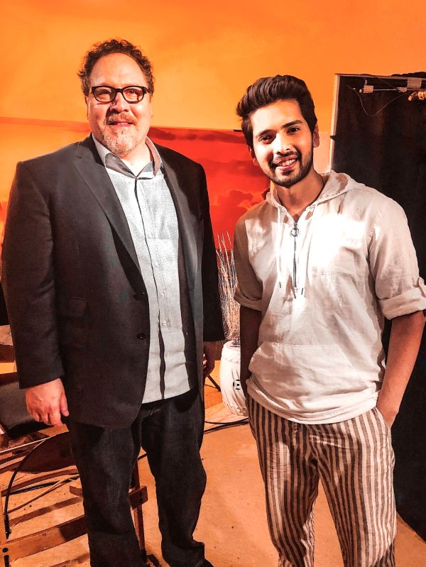Director Jon Favreau with singer Armaan Malik.