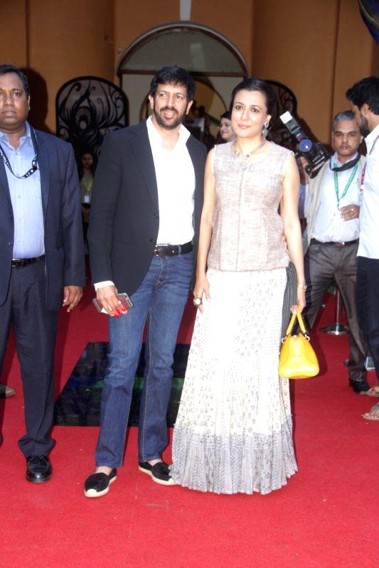 Director Kabir Khan with his wife Mini Mathur arrives at the 46th International Film Festival of India (IFFI-2015), in Panaji, Goa, on Nov 21, 2015.
