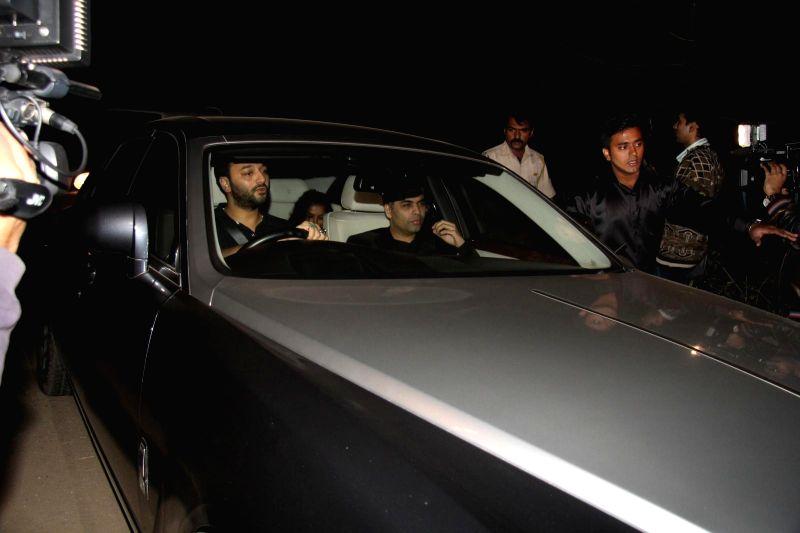 Director Karan Johar arrives at Salman Khan's birthday party in Panvel near Mumbai, India on December 26, 2014. - Karan Johar
