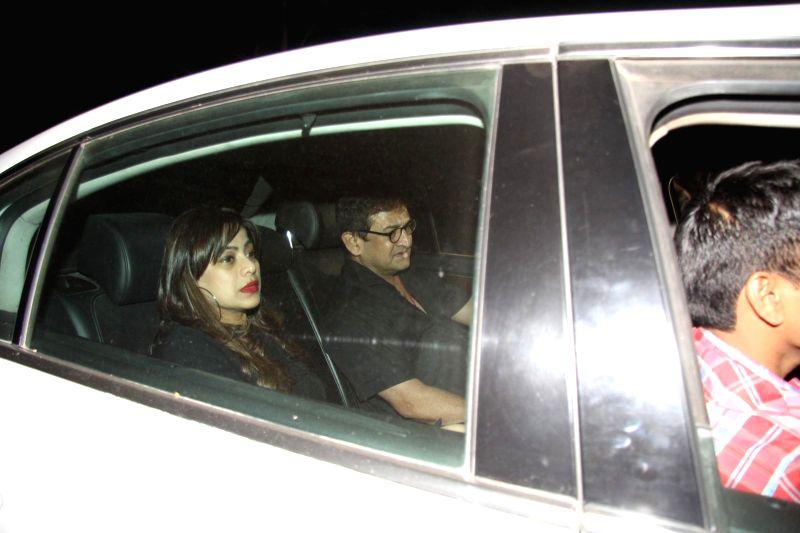 Director Mahesh Manjrekar arrives at Salman Khan's birthday party in Panvel near Mumbai, India on December 26, 2014. - Mahesh Manjrekar