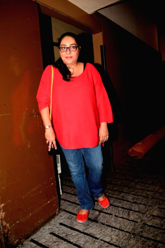 "Director Meghna Gulzar at the special screening of his upcoming film ""Dhadak"" in Mumbai on July 14, 2018."