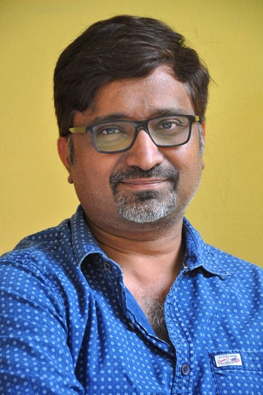 """Director Mohan Krishna Indraganti during a press conference to promote his upcoming film """"Ami Tumi"""" in Hyderabad."""
