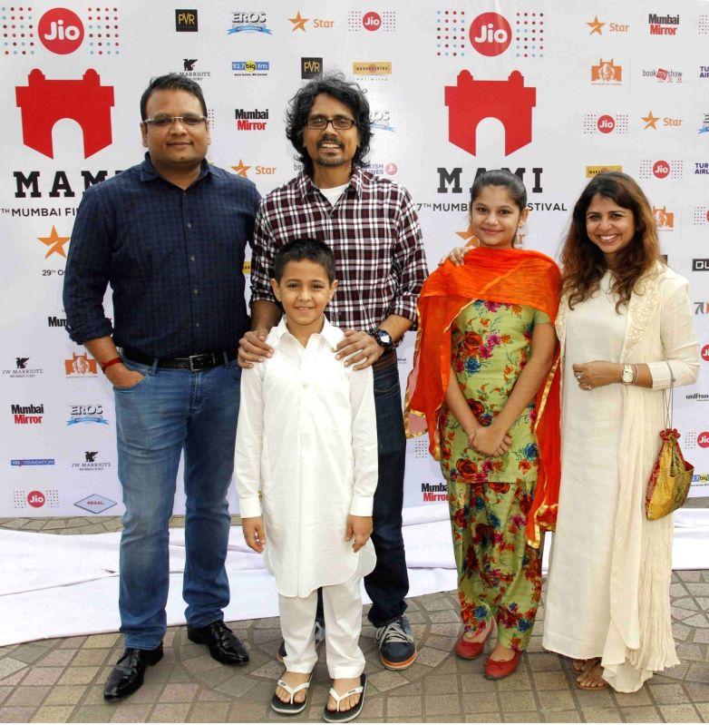 Director Nagesh Kukunoor during the premiere of film `Dhanak` at Jio MAMI 17th Mumbai Film Festival in Mumbai on Oct 29, 2015.