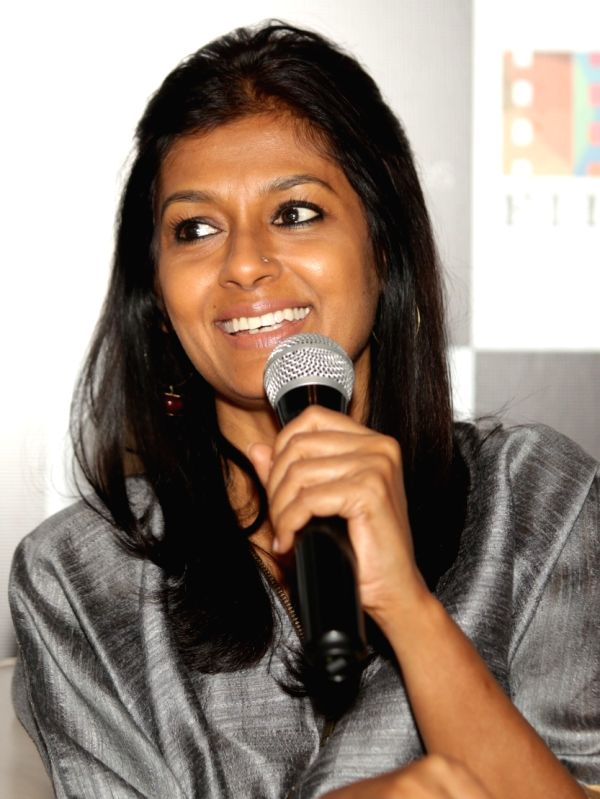 "Director Nandita Das addresses a press conference regarding her upcoming film ""Manto"", in New Delhi on Sept 19, 2018.(Image Source: Amlan Paliwal/IANS)"