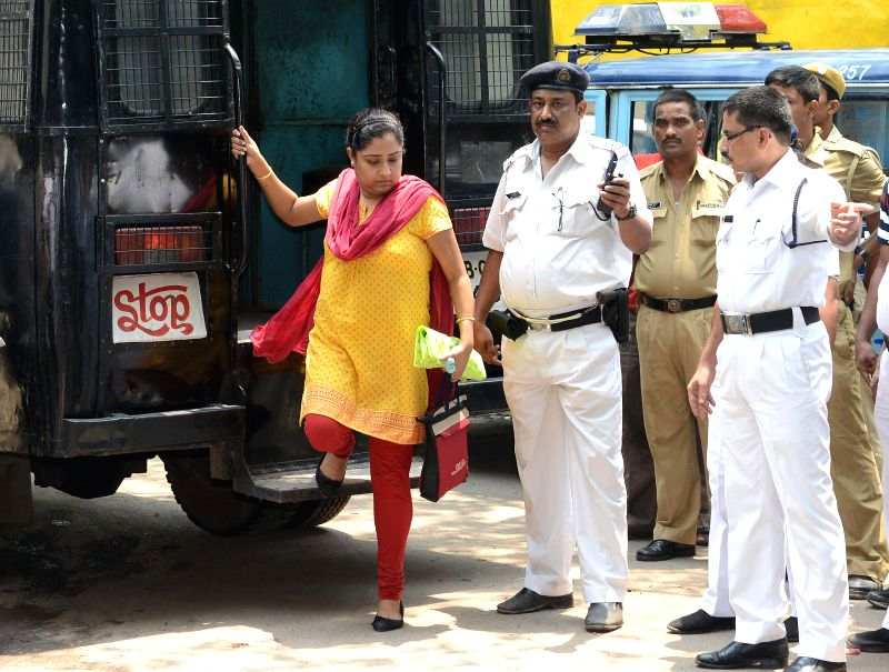 Director of Saradha group Debjani Mukherjee produced at the Alipur Court in connection with Saradha group case in Kolkata on June 16, 2014.
