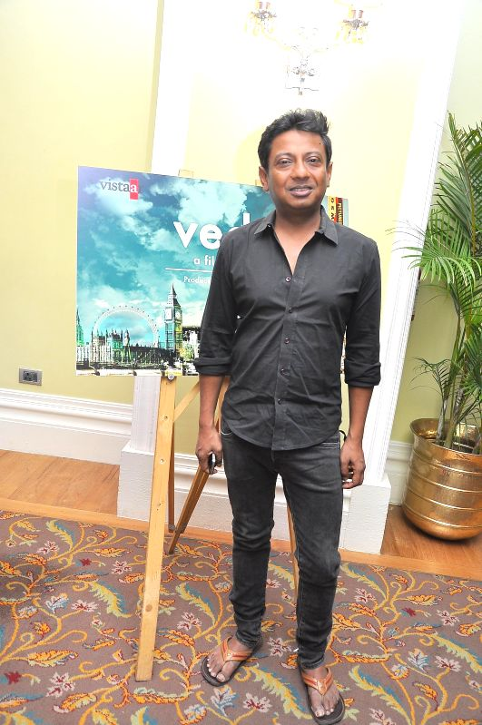 Director Onir during the muhurat of Vistaar Film Fund`s and WSG Picture latest film Veda, in Mumbai, on Aug. 26, 2014.