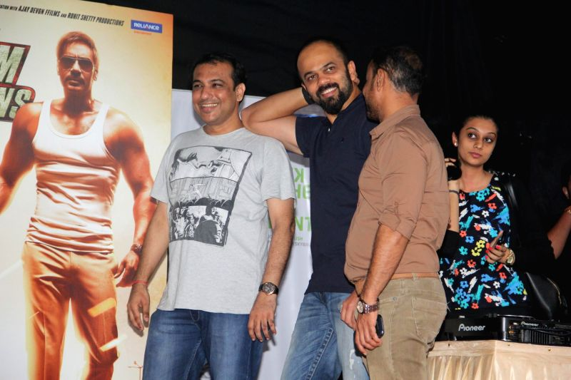 Director Rohit Shetty during the promotion of the film Singham Returns at Umang Festival in Mithibai College, Mumbai on Aug 14, 2014. - Rohit Shetty