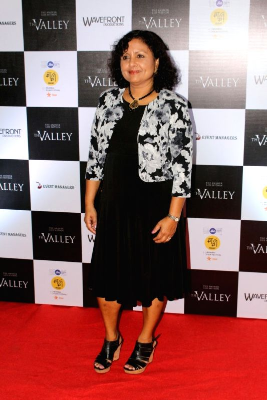 """Director Saila Kariat during the promotion of film """"The Valley"""" in Mumbai on Oct 10, 2017."""