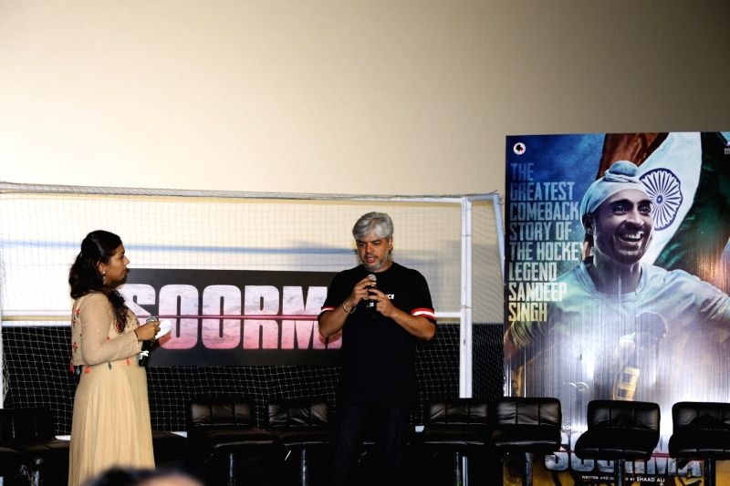 "Director Shaad Ali at the trailer launch of his upcoming film ""Soorma"" in Mumbai on June 11, 2018."
