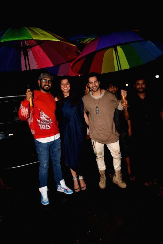 Director Shashank Khaitan and actor Varun Dhawan at actress Bhumi Pednekar birthday celebration in Mumbai on July 17, 2018. - Varun Dhawan
