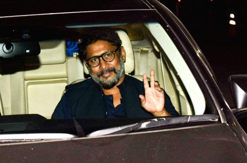 "Director Shoojit Sircar at the special screening of film ""October"" in Mumbai on April 12, 2018."