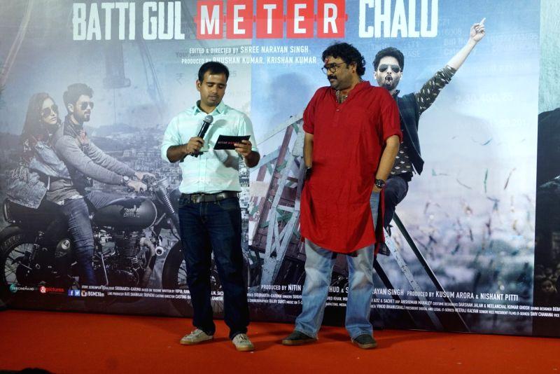 "Director Shree Narayan Singh at the trailer launch of his upcoming film ""Batti Gul Meter Chalu"" in Mumbai on Aug 10, 2018. - Shree Narayan Singh"