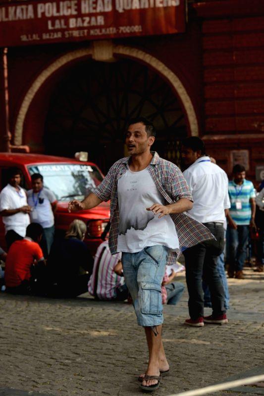 Director Sujoy Ghosh during shooting for their upcoming film `Te3n` at Writers Building in Kolkata on Nov 25, 2015. - Sujoy Ghosh
