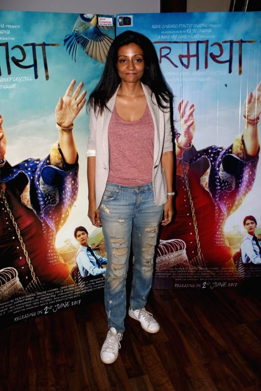 Director Sunaina Bhatnagar during the interview for film Dear Maya in Mumbai on May 27, 2017.