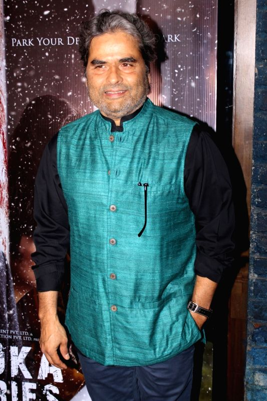 "Director Vishal Bhardwaj at the song launch of film ""Vodka Diaries"" in Mumbai on Jan 9, 2018."