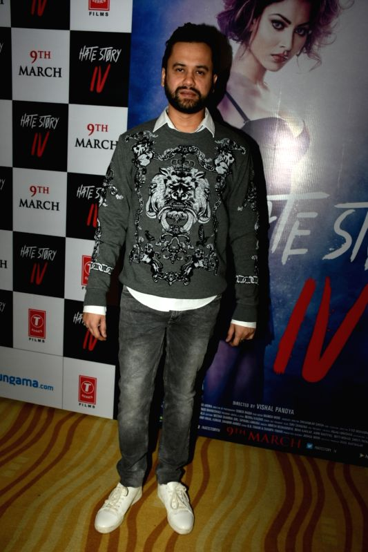 "Director Vishal Pandya at the song launch of his upcoming film ""Hate Story IV"" in Mumbai on Jan 31, 2018."