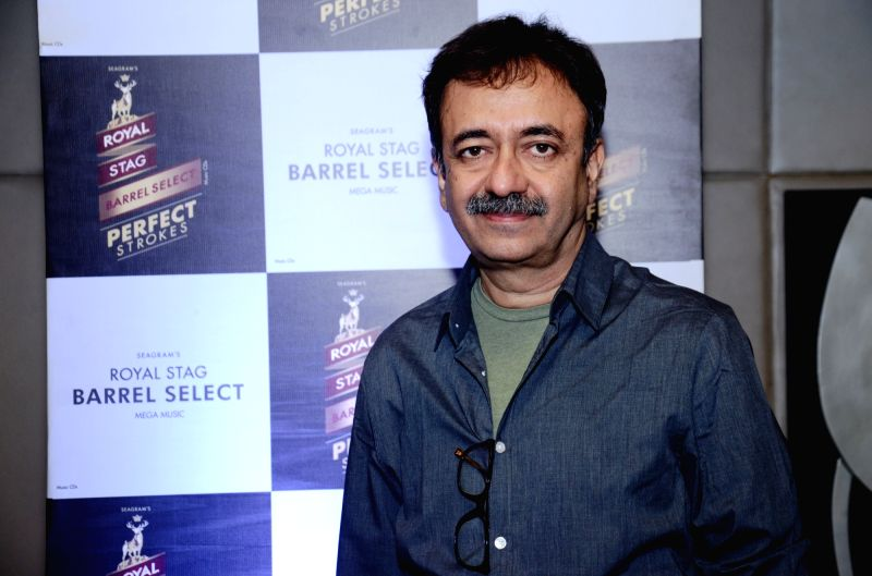 DirectorRaju Hirani during a programme ``Perfect Strokes Season 2`` in New Delhi on Dec. 5, 2015.