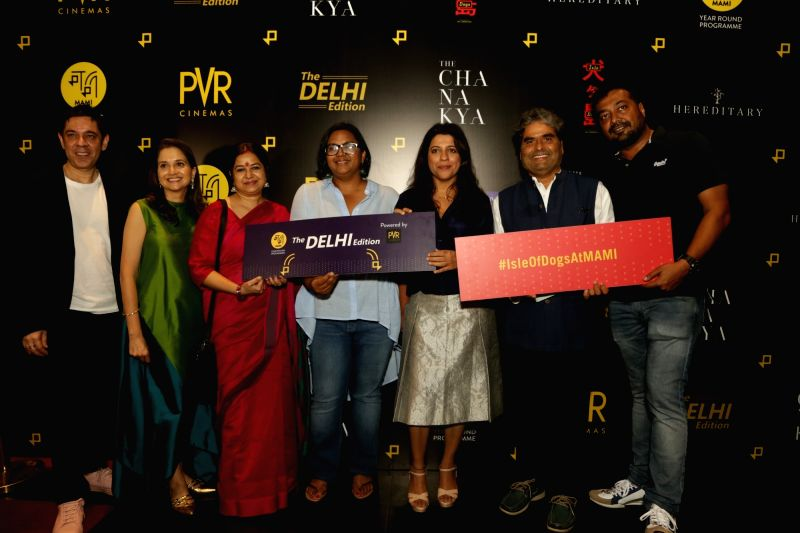 Directors Vishal Bhardwaj, Zoya Akhtar, Anurag Kashyap, Anupama Chopra and PVR joint MD Sanjeev Kumar Bijli at the Red Carpet launch of MAMI Year Round Programme - The Delhi Edition, in ... - Vishal Bhardwaj, Anurag Kashyap, Anupama Chopra and Sanjeev Kumar Bijli