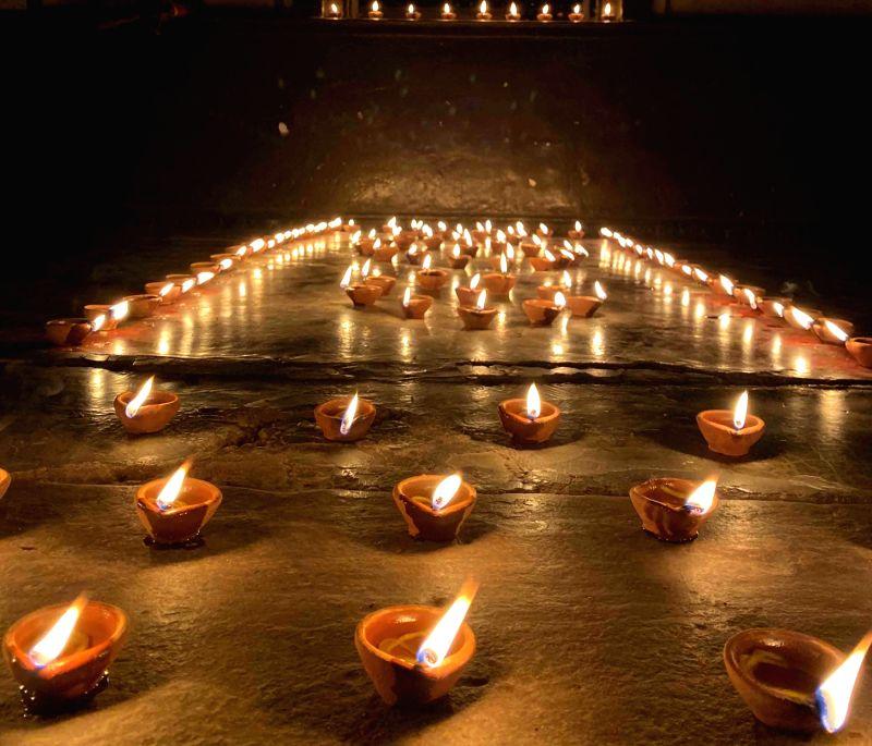 Earthen lamps on Diwali