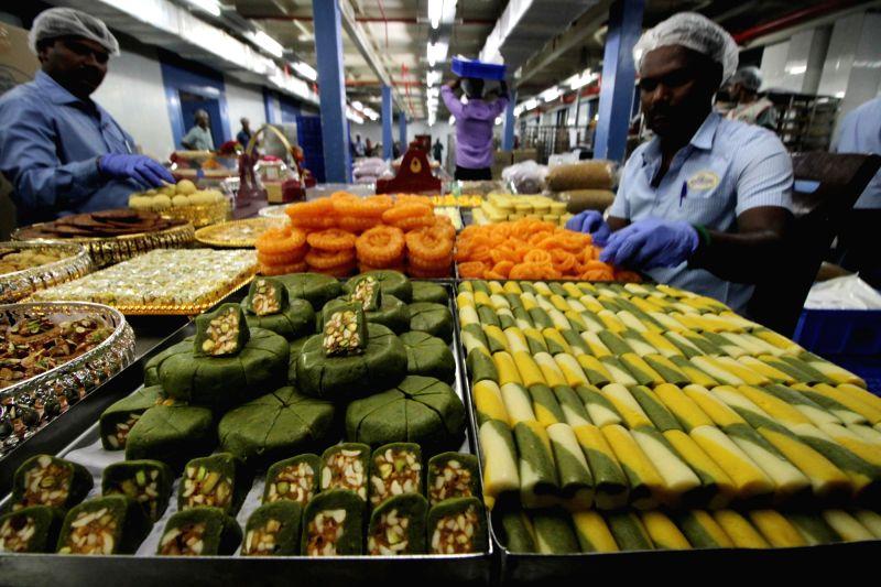 Diwali sweets being prepared in Chennai